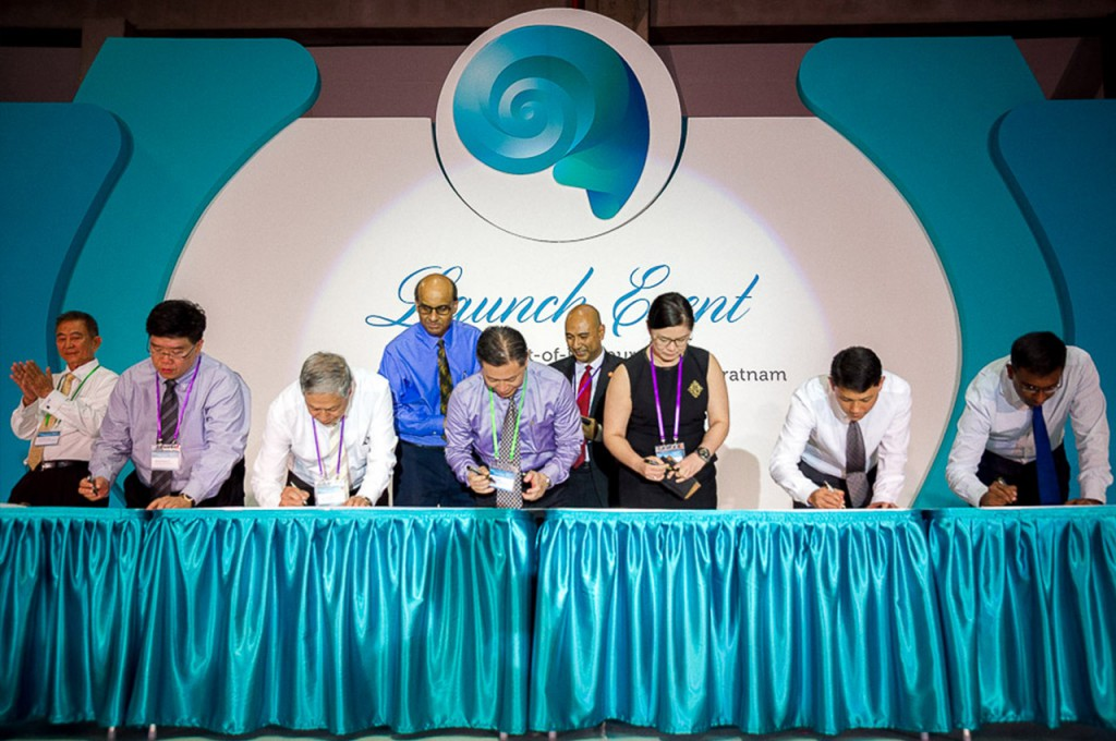 Pioneer SEED partners inking their collective intent to help 'bridge the first mile' in disaster response.
