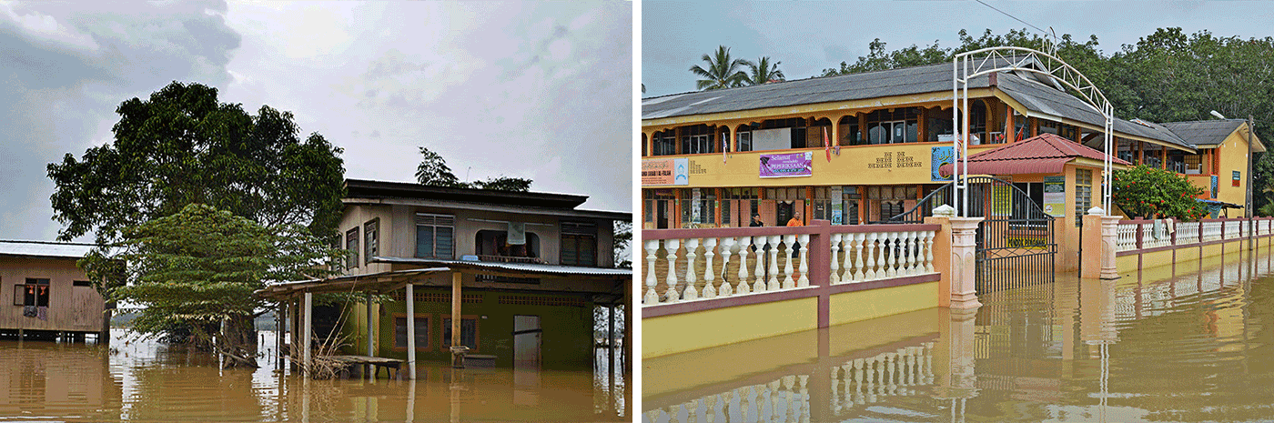 Scenes of devastation across the state of Kelantan, Malaysia, one of the most severely hit areas by the massive floods.