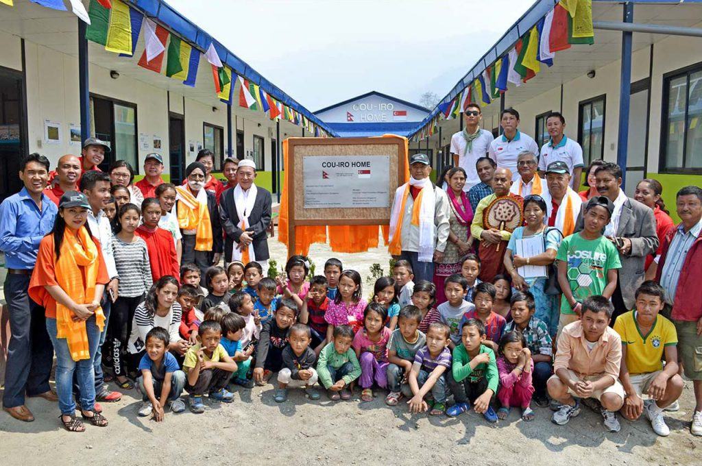 NEPALI ORPHANS GET NEW HOME